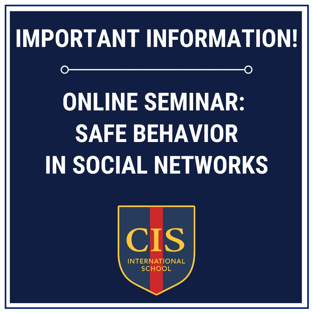 "Online seminar ""Safe Behavior in Social Networks"" for children and parents of CIS campuses"